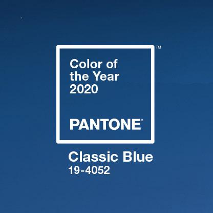 2020 팬톤 컬러: 클래식 블루