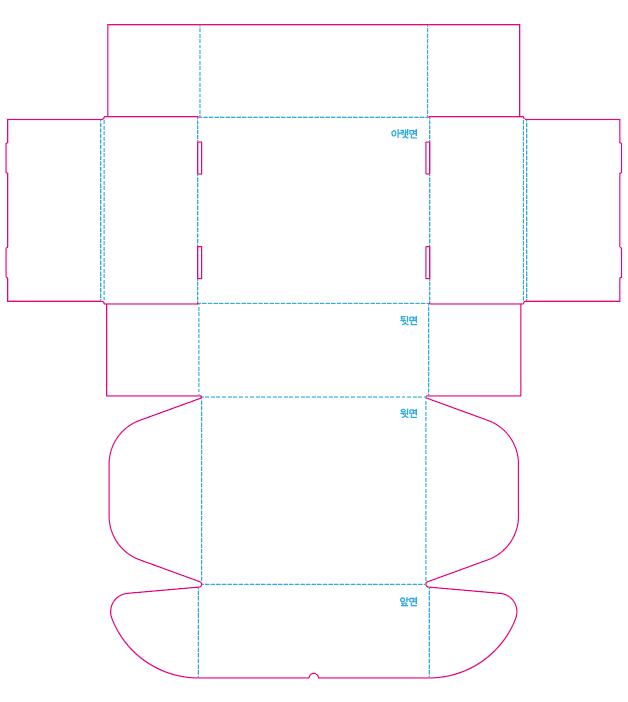 G형박스 포장상자 도안 - 오시선 및 칼선